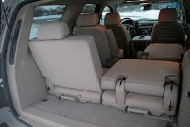 the third row seats also don t fold flat into the floor so maximizing rear cargo e requires pletely removing the seats
