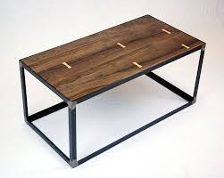 Coffee Table Industrial Hand Crafted Salvaged Black Walnut Industrial Coffee Table By