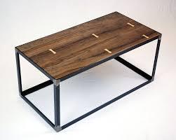 custom made salvaged black walnut industrial coffee table