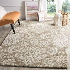 best 8x12 beige damask area rugs for transitional living room floor decor