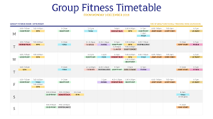 group fitness cl timetable
