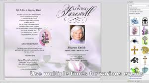 funeral pamphlet how to customize a funeral program template youtube