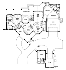 Lawton Place European Home Plan D    House Plans and MoreRanch House Plan First Floor   D    House Plans and More