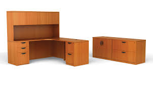 wooden l shaped desk with hutch in peru with black handle for home office furniture ideas