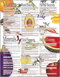 Foods Rich In Vitamins And Minerals Chart Vitamin Mineral Kitchen Chart Cedarlily Publishing