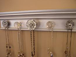 Jewelry Organizer Wall Wall Jewelry Rack This Necklace Organizer Has 7 Knobs On Off