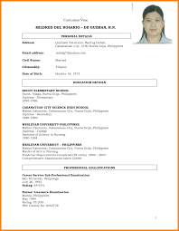 best solutions of sample resume for filipino nurses about template