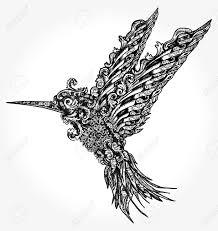 Humming Bird Tattoo And T Shirt Design Symbol Of Freedom Dream