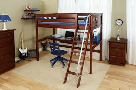 bunk bed office. full length desk under loft bed bunk office
