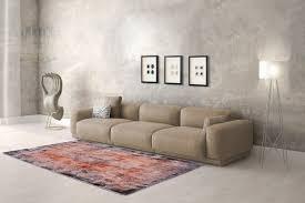 Namibia Vintage Teppich Aus Handfertigung 100 Viskose Terracotta
