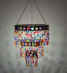 colorful solar mini chandelier