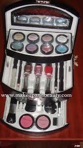 india bridal makeup kit essentials it conns three racks the topmost is exclusively for eye shadows middle one lipsticks nail paints
