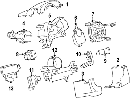 gmc acadia forum steering wheel position sensor i believe it s mounted on the column near the ignition switch it s item 6 called an angle sensor on the diagram i got from gmpartsdirect