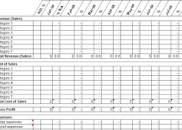 12 Month Profit And Loss Projection Template My Excel