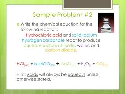 sample problem 2 write the chemical equation for the following reaction