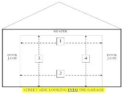 standard garage door sizes std garage door width double garage door dimensions standard garage door size