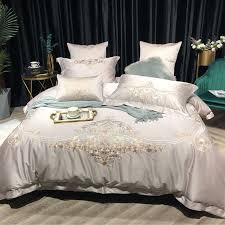 details about silver bed sheet set 1000 threadcount 100 egyptian cotton duvet cover 4 7pcs