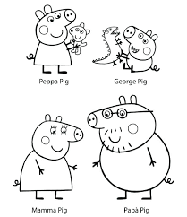 Peppa Pig Coloring Pages Printable Free Printable Pig Family
