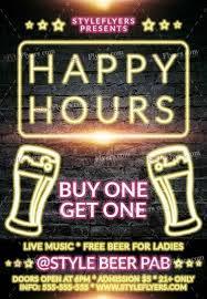 Happy Hour Flyer Happy Hours Beer Psd Flyer Template