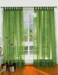 Chic Green Transparent Double Windows Curtains As Inspiring Modern Drapes  With White Windows Frames As Decorate In Modern Living Areas Designs Tips