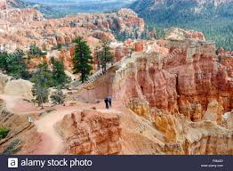 hikers on queen s garden trail bryce canyon national park utah
