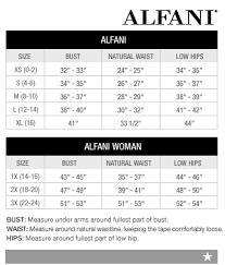 Alfani Size Chart Women S Alfani Woman Regular And Plus Size Charts Via Macys In 2019