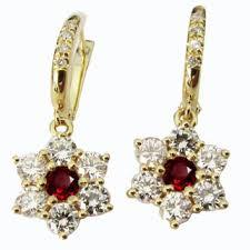 ruby earrings chandelier earrings drop earrings 18k yellow go