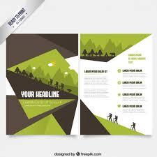 Green Brochure Template Brochure Template In Green And Brown Tones Vector Free Download