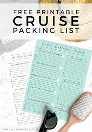 Cruise Packing List Printable Cruise Packing List What To Pack For A Cruise