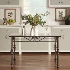 Vintage Kitchen Dining Table Flecked Faux Marble Top Metal Frame Bronze  Finish