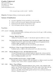 Resume Sample Food Prep Baking Or Counter Person