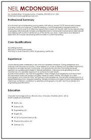 Cv Template Student Cv Template Gcse Cv Example For High School Students