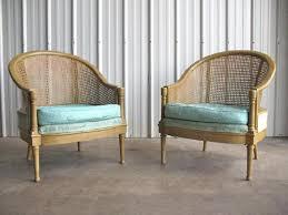 Regency Pair Cane Lounge Chair Probber Baker eBay