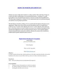 Stylish Decoration How To Write A Resume For Students How To Write A