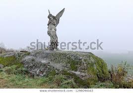 Lone Statue Angel Fields Czech Republic Stock Photo (Edit Now) 1298094043