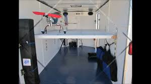 Cabinets For Cargo Trailers Mikes Man Cave Trailer Youtube