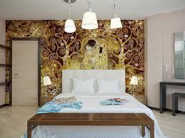 Modern Art Deco Bedroom Bedroom Artsitic Brown Girl Painting In Modern Art Deco Bedroom