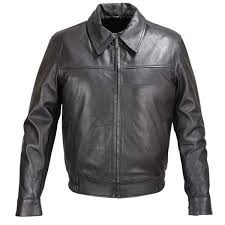 mens black lambskin leather er classic fit jacket