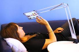 articulating tablet mount from tertial lamp
