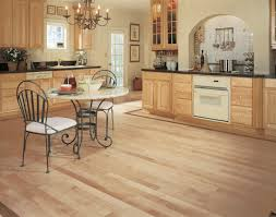 country kitchen design with mullican unfinished solid hardwood flooring and 3 piece dining set