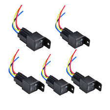 pack car auto v a spst relay amp socket pin relays wire image is loading 5 pack car auto 12v 40a spst relay