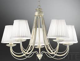 appealing chandelier with shades at franklite philly cream gold 5 light fl2172