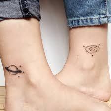 Matching Saturn And Spiral Galaxy Tattoo Tattoogridnet