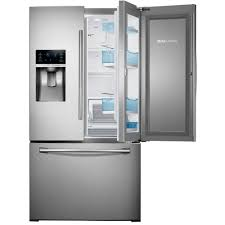 samsung 27 8 cu ft food showcase french door refrigerator in stainless steel