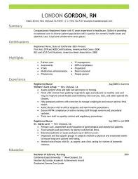 Examples Of Nursing Resumes Simple Registered Nurse Healthcare Resume Example Emphasis X Photo Pic