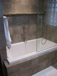 wonderful small tub shower combo with glass door completed