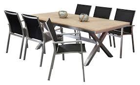 Aluminium Outdoor Dining Sets  Mosman Black 6 Seater  Segals Aluminium Outdoor Furniture