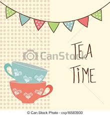 vintage tea cups vector. Interesting Tea Tea Time  Csp16583930 Inside Vintage Cups Vector