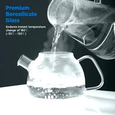 glass stove top kettle tea oz teapot with filters clear uk