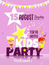 children party invitation templates birthday party invitation designs 19 kids party invitation designs
